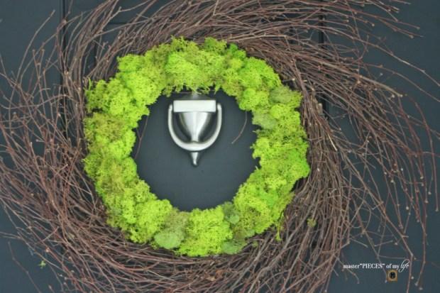 Reindeer moss wreath 1