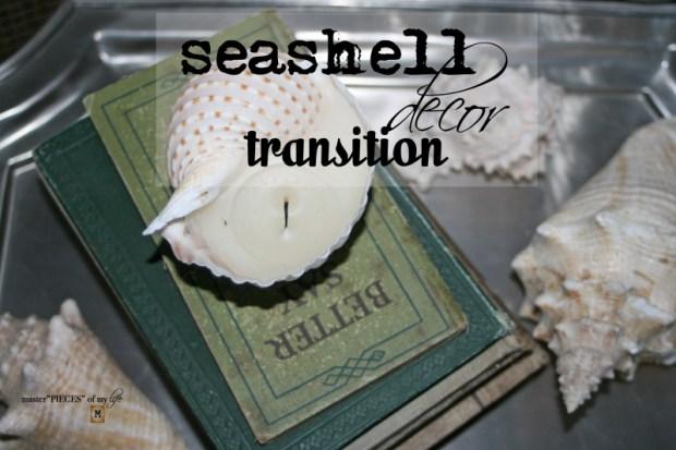 Seashell decor transition