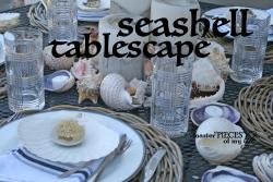 Seashell tablescape