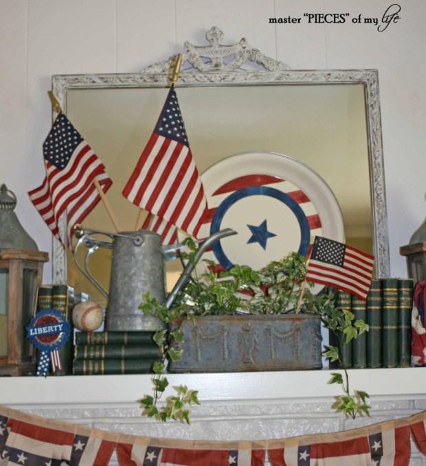 Patriotic mantel 3 cropped
