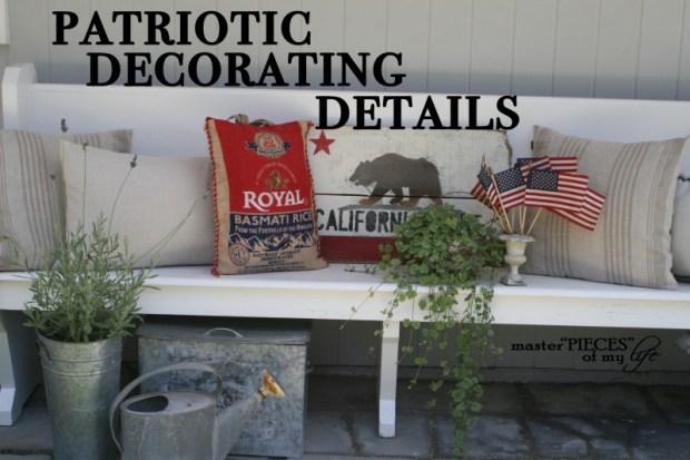 Patriotic decorating details