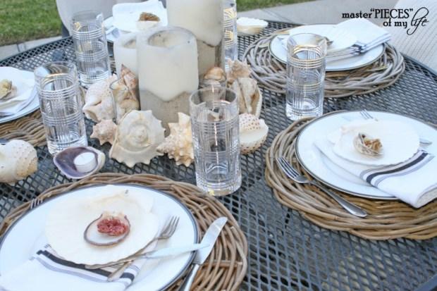 Seashell tablescape 2