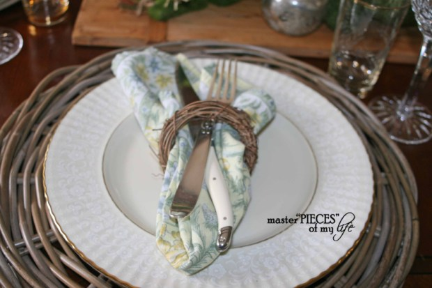 Mercury glass moss easter tablescape7