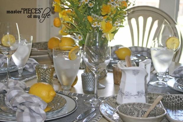 Lemon inspired tablescape1