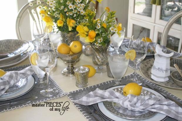Lemon inspired tablescape10