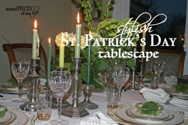 St. patricks stylish tablescape