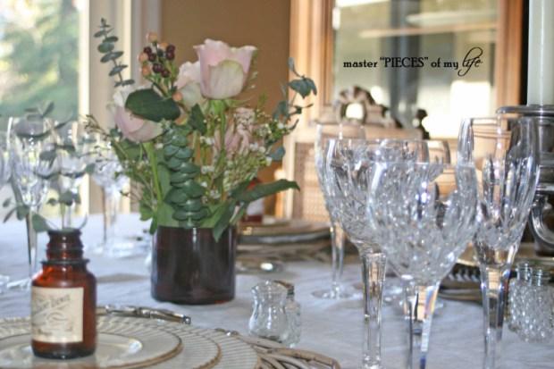 Romantic tablescape for 4-6
