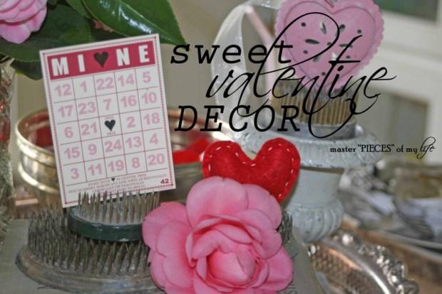 Sweet valentine decor