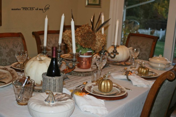 Thanksgiving tablescape mixed metals6