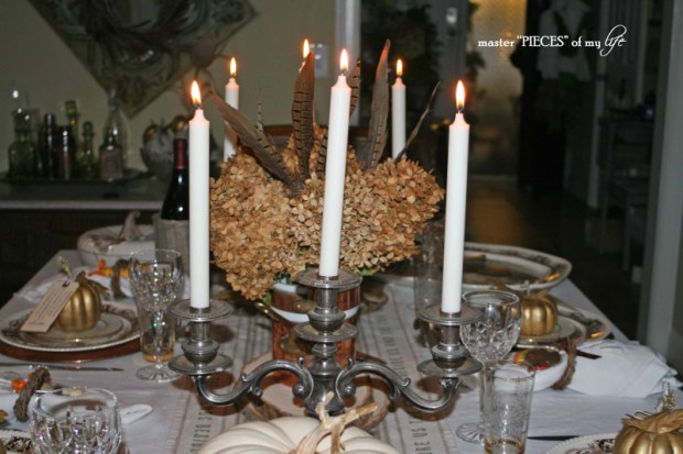 Thanksgiving tablescape mixed metals8