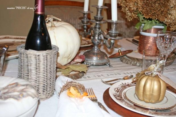 Thanksgiving tablescape mixed metals12