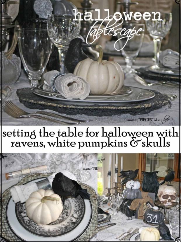 Pinterest halloween tablescape