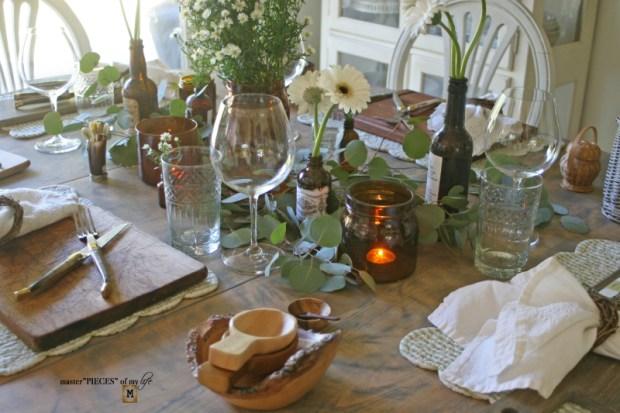 Rustic casual summer tablescape14