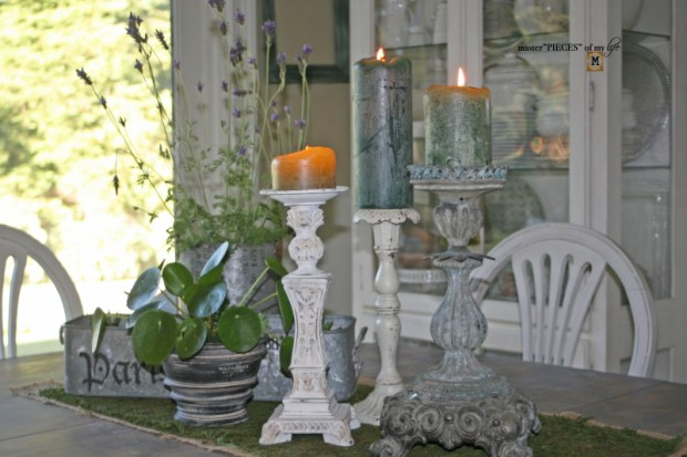 Faux cast iron candlestick3
