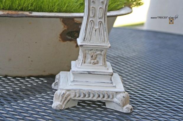 Faux cast iron candlestick6