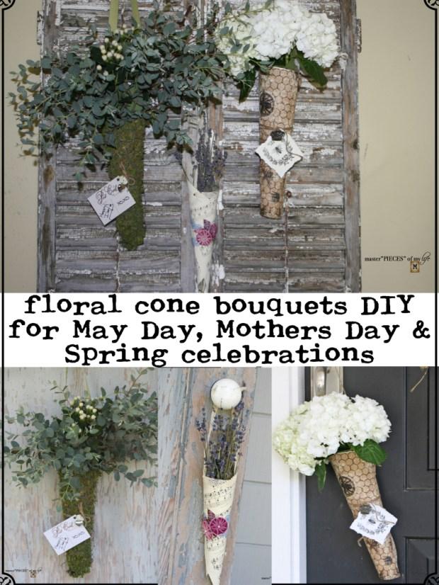 Pinterest Floral cone bouquets DIY