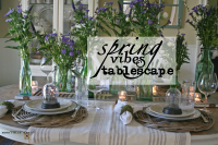 Spring vibes tablescape