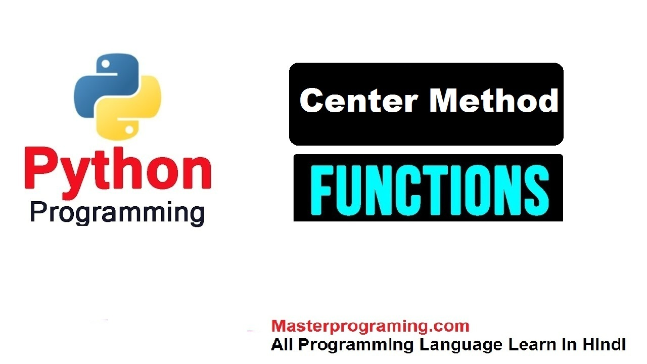 Python String center() in Hindi