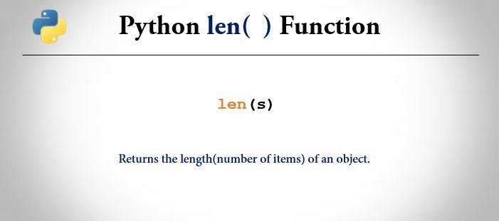 Len Function In python