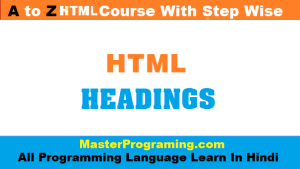 html heading in hindi