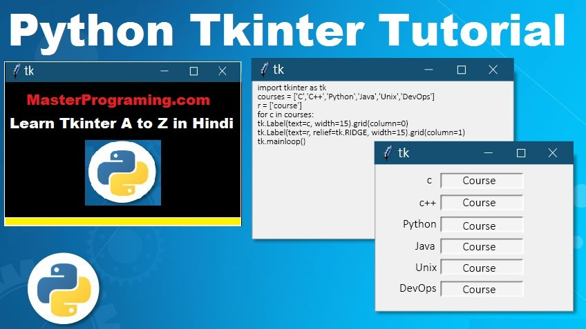 Python Tkinter In Hindi
