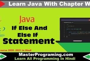 Java IF Else Else If