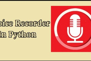 Sound Recorder In Python