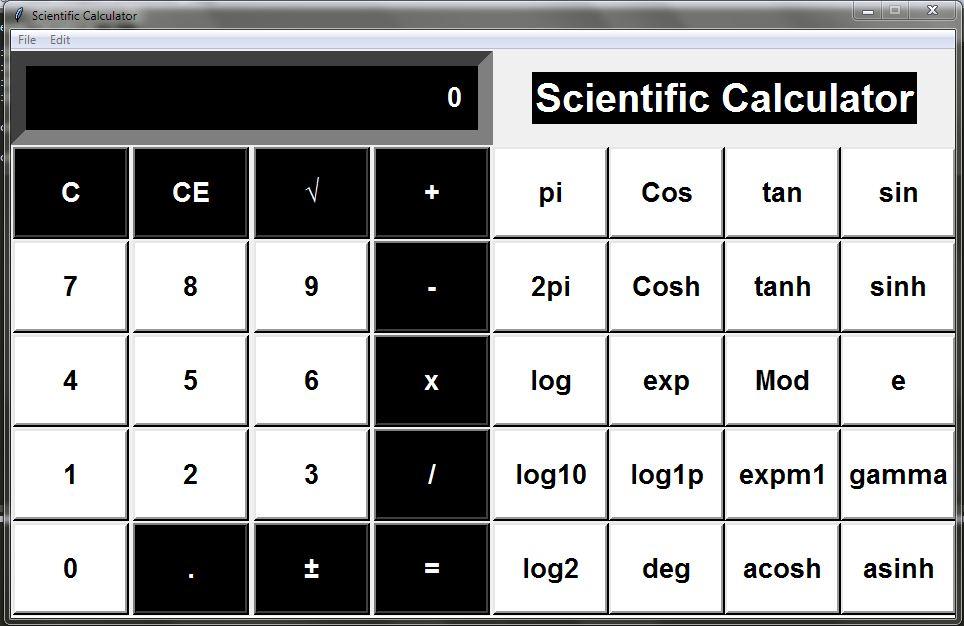 Python GUI Scientific Calculator
