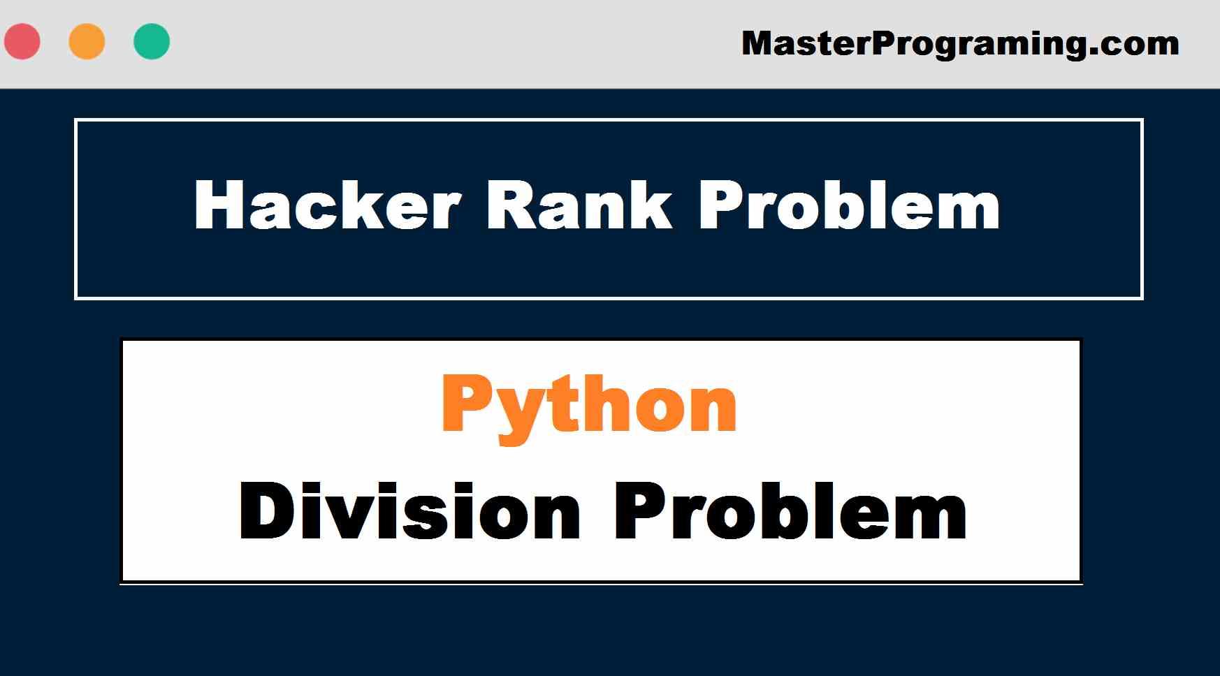 Hacker Rank Problem In Python