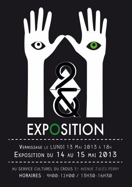 affiche exposition 2&