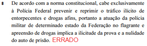 questao da prova de delegado de policia federal 2013 sobre o art 144 da constituicao federal
