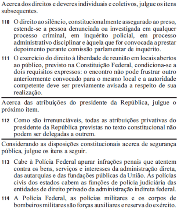 questoes de direito constitucional da prova de agente de policia federal de 2012