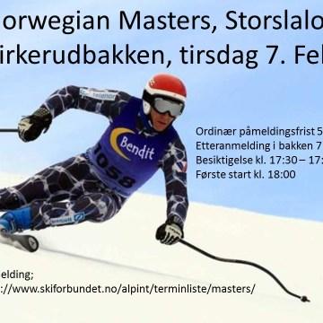 Norwegian Masters GS Kirkerudbakken 7 . februar