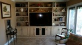 Glazed Maple Wall Unit