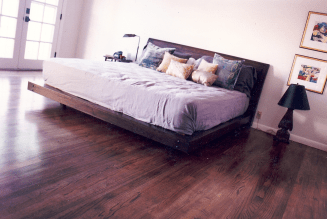 Custom Walnut Bed