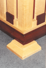 Birds Eye Maple and Purpleheart Table Detail