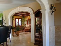 Custom Archways and Coffered Ceilings