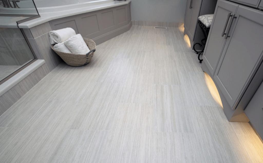 bathroom flooring ceramic vs vinyl