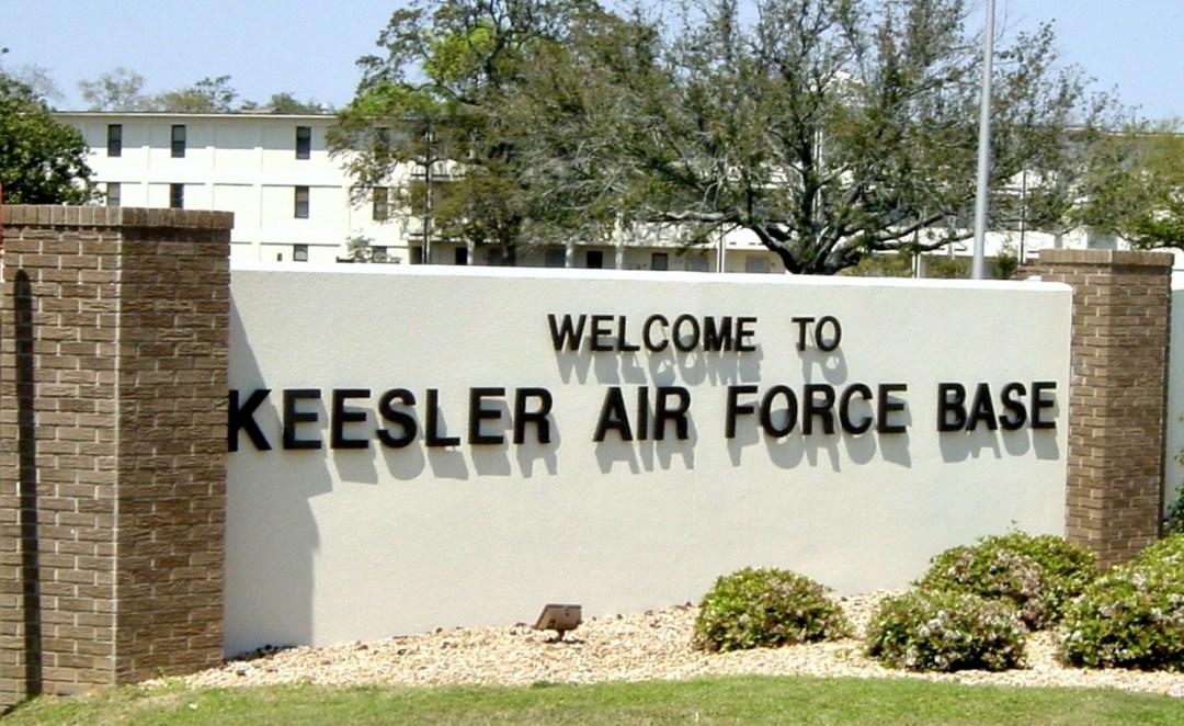 Main Gate at Keesler Air Force Base
