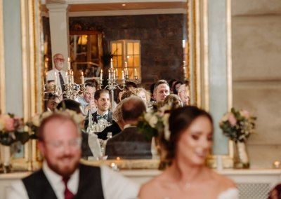 Bride and groom laughing at Tankardstown House hotel wedding