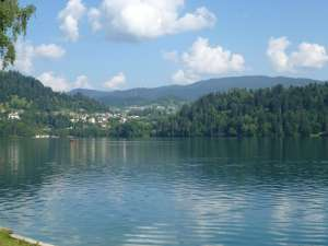 A view of Lake Bled, Slovenia