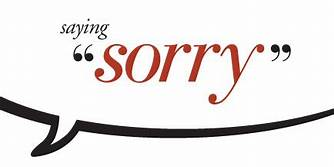 "Image says: ""Saying sorry"""