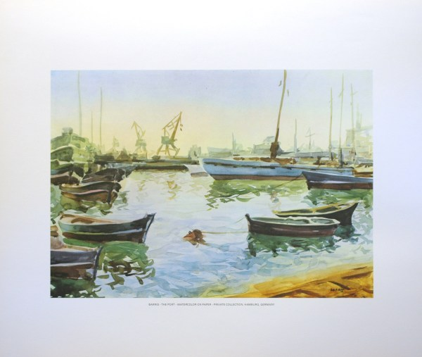 BARRIS - THE PORT (LITHOGRAPH)