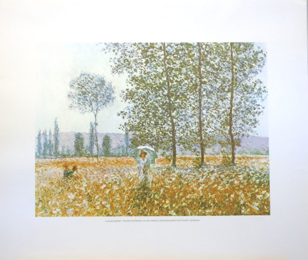 CLAUDE MONET - FIELDS IN SPRING (LITHOGRAPH)