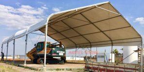 Modelo de tendas para armazenagem