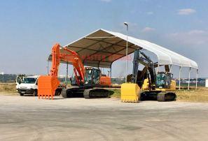 Modelo de tendas para armazenagem e logistica