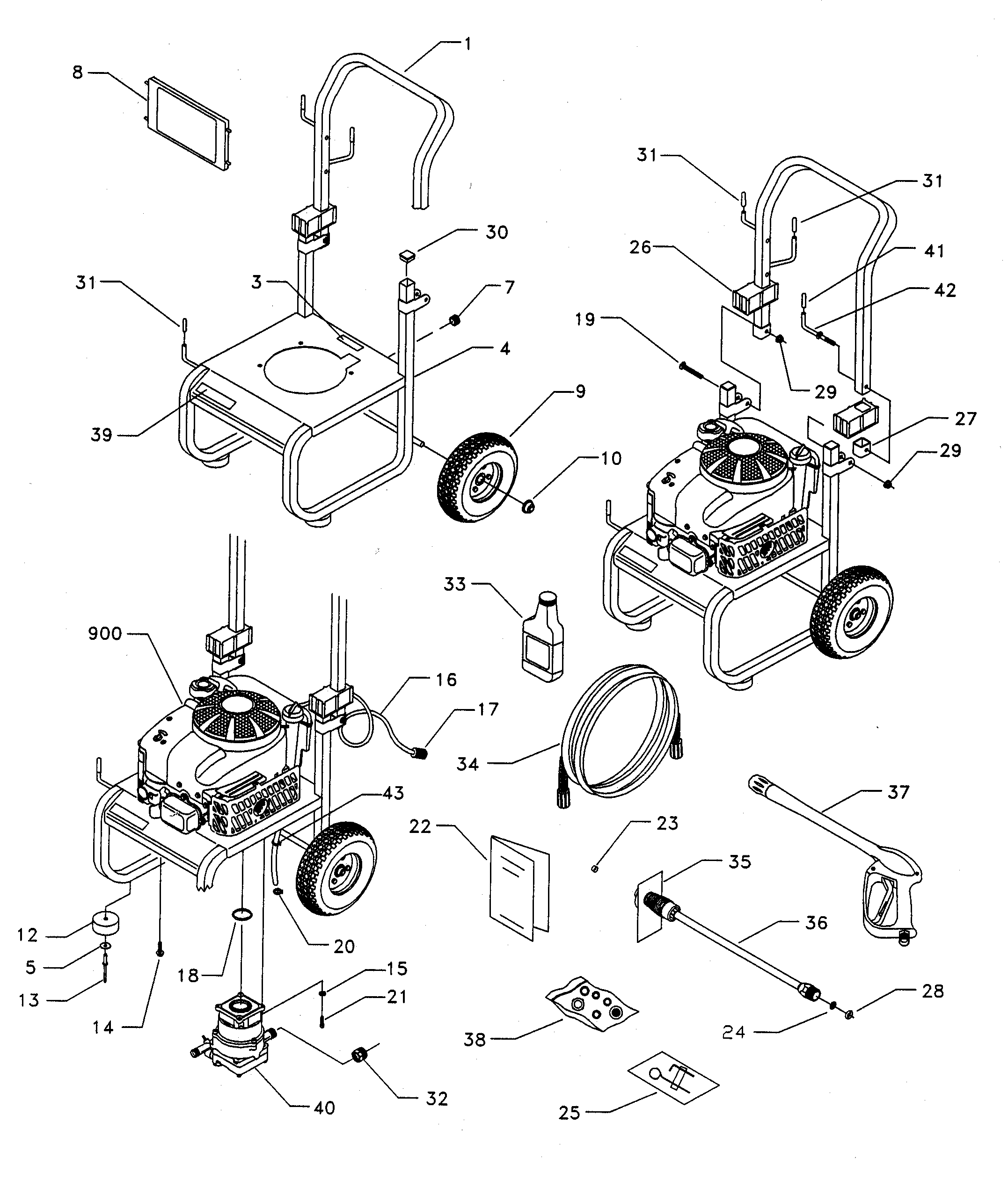 Karcher K2 Spare Parts Diagram