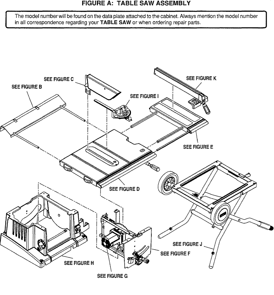 Ryobi Bts20 Table Saw Parts