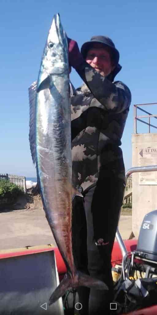 Glenn Van Nooten with a Wahoo boat dive South
