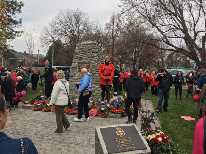 Kamloops Cenotaph Remembrance Day
